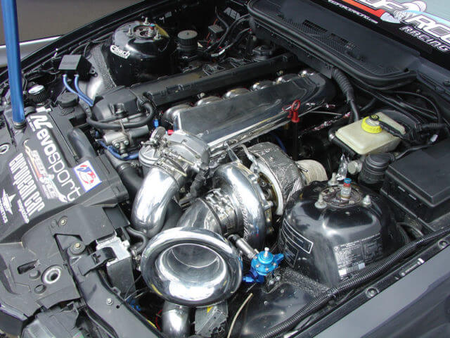BMWのE46320iベースのターボ付き車両です