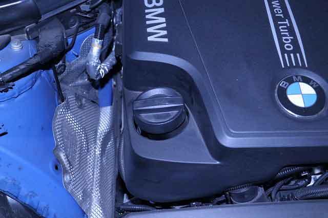 BMWエンジンの漏れ画像